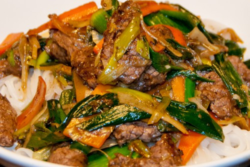 Kinesisk Stir-Fry Elg