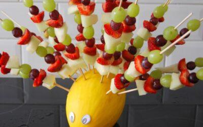 Pinnsvin med fruktspyd