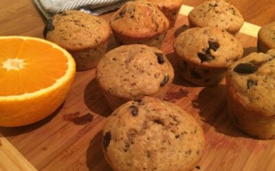Bananbrød med sjokoladebiter – muffins.